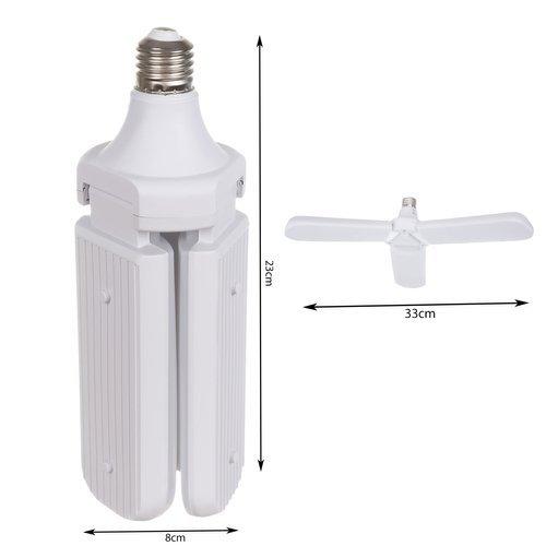 Bec LED pliabil  tip candelabru cu trei brate E27 45W 6500K [5]