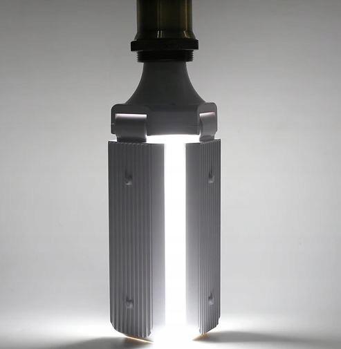 Bec LED pliabil  tip candelabru cu trei brate E27 45W 6500K [7]