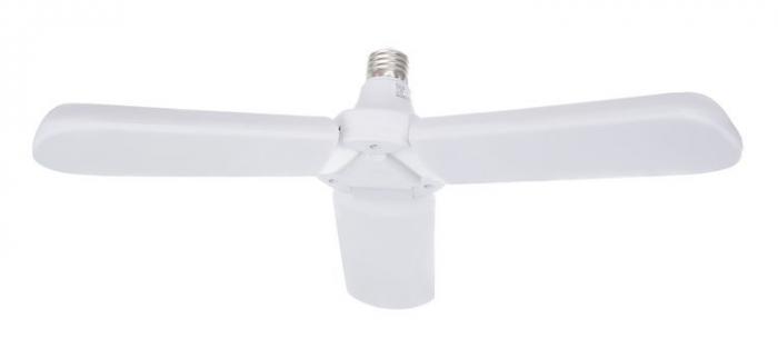 Bec LED pliabil  tip candelabru cu trei brate E27 45W 6500K [4]