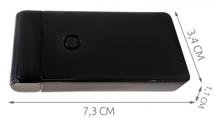Bricheta electrica antivant, 5V, incarcare USB, Neagra cutie cadou inclusa [5]