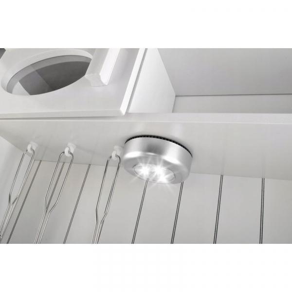 Bucatarie de jucarie pentru copii 93x43.5x28.5 cm din lemn lampa LED  ustensile 4