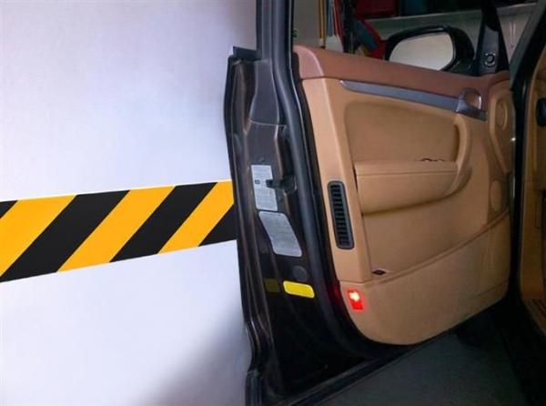 Burete de protectie a usilor de masina reflectorizant 10x50 cm pentru garaj 10 bucati 2