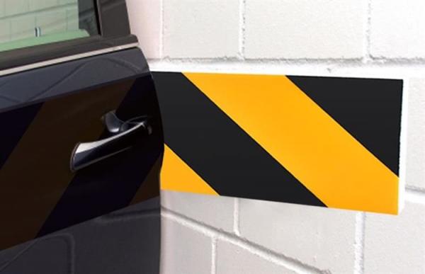 Burete de protectie a usilor de masina reflectorizant 10x50 cm pentru garaj 10 bucati 3