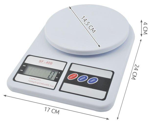 Cantar de bucatarie afisaj LCD 0.6 inch functie Tara capacitate maxima 7 kg [2]