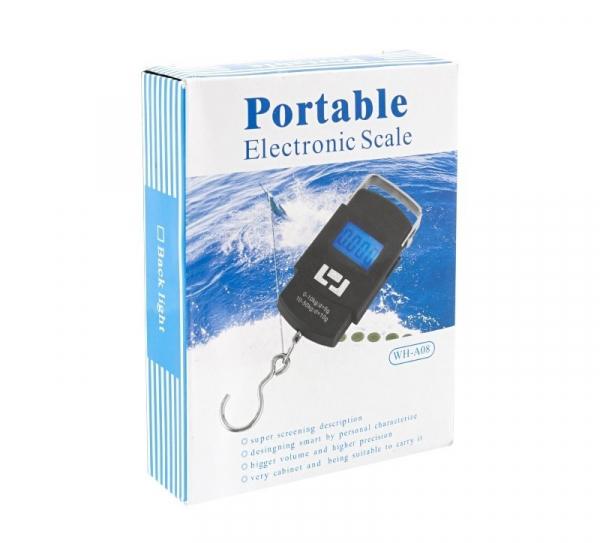Cantar de Mana Portabil Digital, Capacitate 50kg pentru pescuit sau bagaje, senzor de temperatura [1]