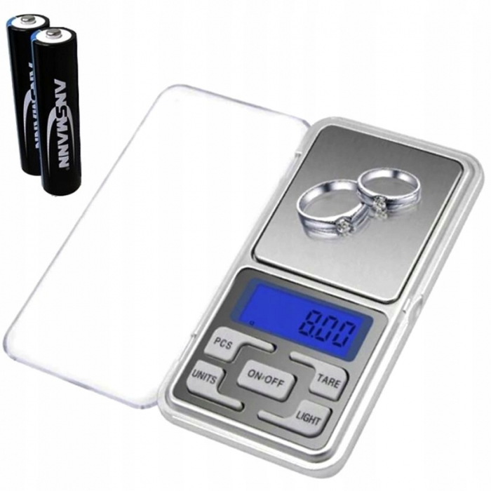 Cantar Electronic Mini 200g, Precizie de 0,1 g cu Functie Tara [4]