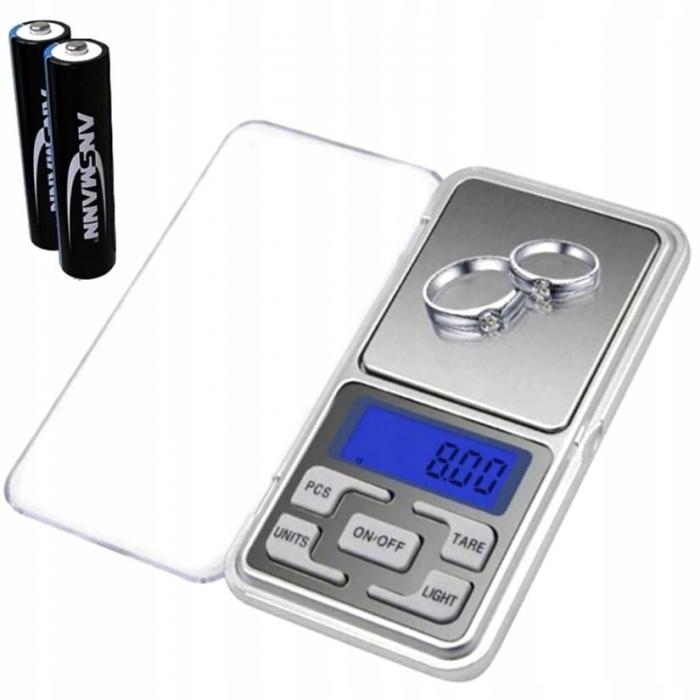 Cantar Electronic Mini  500g, Precizie de 0,1 g cu Functie Tara [0]
