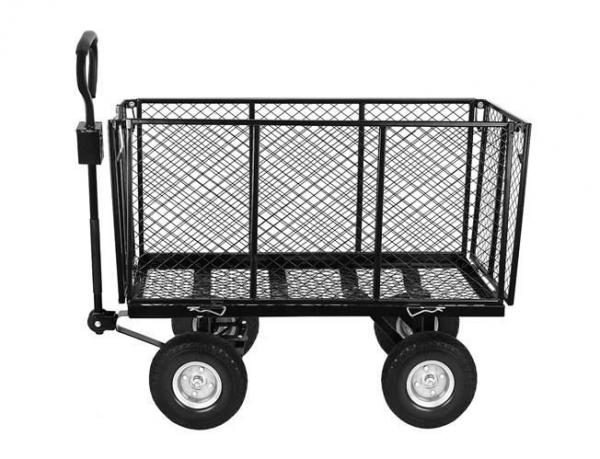 Carucior transport gradina 350 kg,roti pline PU maner reglabil,rabatabil  husa capacitate 250 litri Malatec 13
