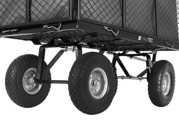 Carucior transport gradina 350 kg,roti pline PU maner reglabil,rabatabil  husa capacitate 250 litri Malatec 3
