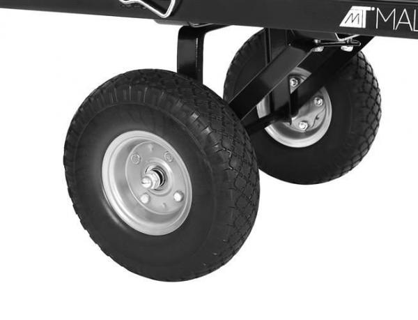 Carucior transport gradina 350 kg,roti pline PU maner reglabil,rabatabil  husa capacitate 250 litri Malatec 10