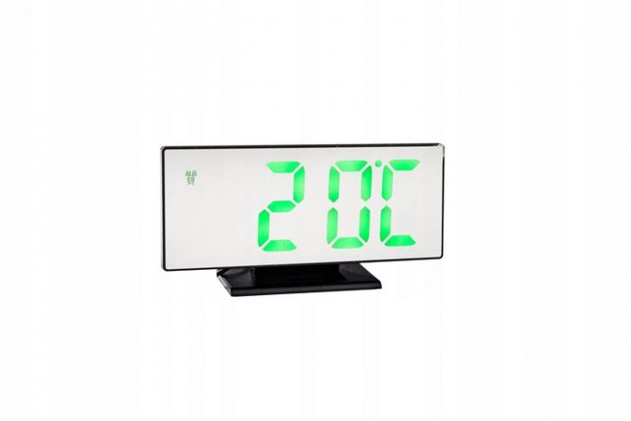 Ceas cu alarmă oglinda ceas termometru electronic cu LED 4 in 1 4