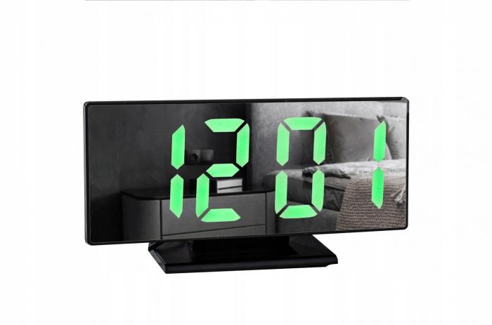 Ceas cu alarmă oglinda ceas termometru electronic cu LED 4 in 1 1