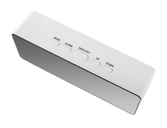 Ceas cu alarmă tip oglindă 3 in 1 - alb [9]