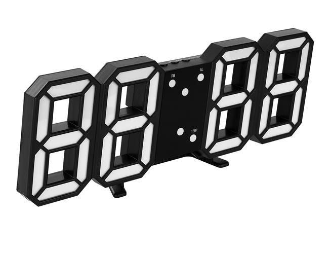 Ceas digital LED termometru data  functie alarma  fixare perete 12/24h 4