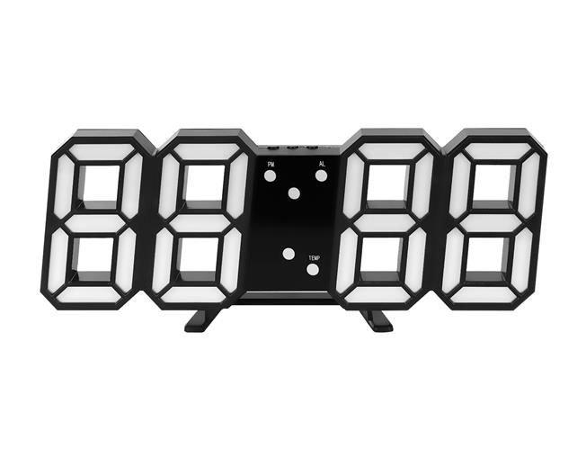 Ceas digital LED termometru data  functie alarma  fixare perete 12/24h 3