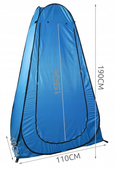 Cort dus camping toaleta garderoba  albastru dimensiune 110x 190 cm [9]