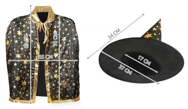 Costum de vrajitor cu palarie si mantie [8]