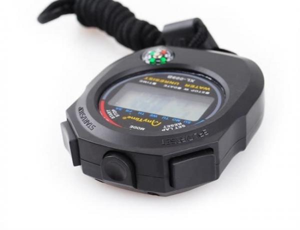 Cronometru digital cu busola,  LCD, afisaj ora, calendar, functie alarma, snur, negru [5]