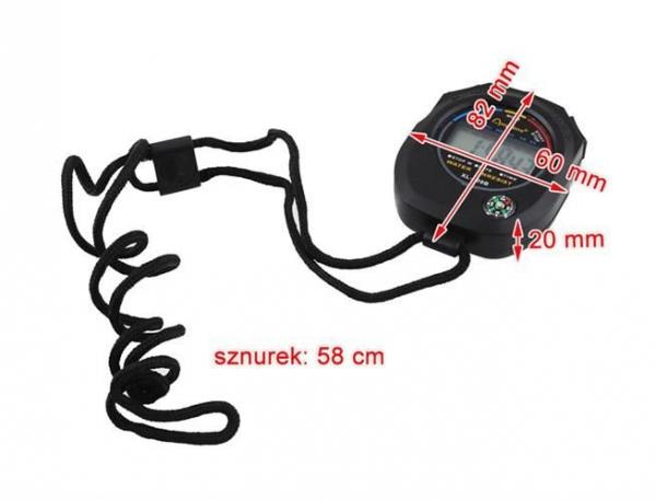 Cronometru digital cu busola,  LCD, afisaj ora, calendar, functie alarma, snur, negru [6]