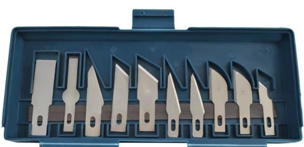 Cuțite de modelat precise de artizanat tip bisturiu lame de modelat cu banda magnetica - set 16 buc cutie 8