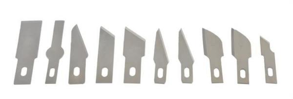 Cuțite de modelat precise de artizanat tip bisturiu lame de modelat cu banda magnetica - set 16 buc cutie 4
