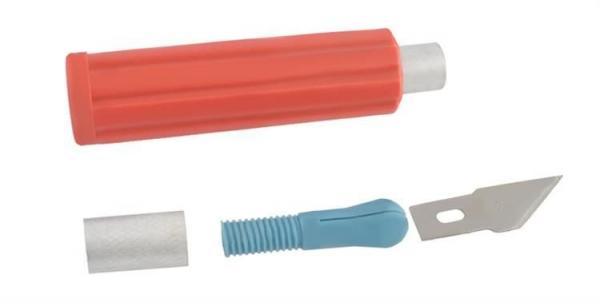 Cuțite de modelat precise de artizanat tip bisturiu lame de modelat cu banda magnetica - set 16 buc cutie 2