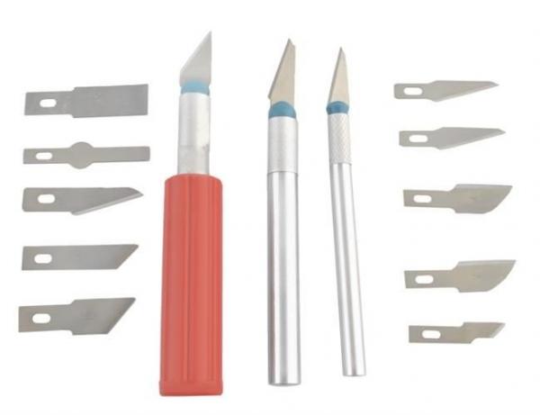 Cuțite de modelat precise de artizanat tip bisturiu lame de modelat cu banda magnetica - set 16 buc cutie 6