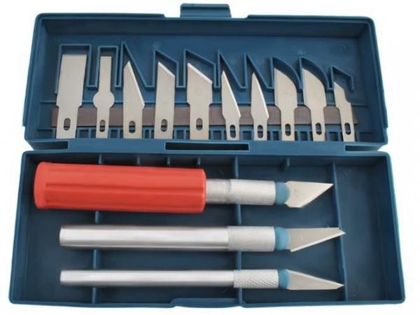 Cuțite de modelat precise de artizanat tip bisturiu lame de modelat cu banda magnetica - set 16 buc cutie 0