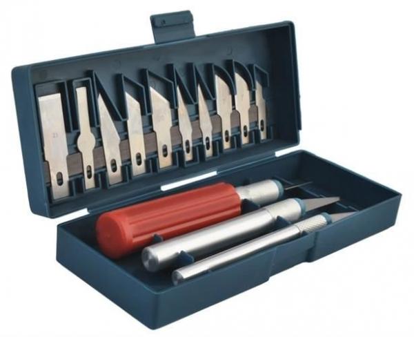 Cuțite de modelat precise de artizanat tip bisturiu lame de modelat cu banda magnetica - set 16 buc cutie 7