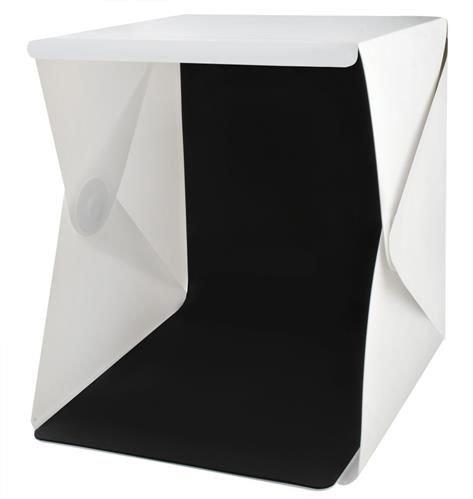Cub foto pliabil, 20 LED-uri SMD, microUSB 5V, fundal alb negru, PVC [6]