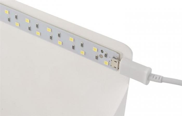 Cub foto pliabil, 20 LED-uri SMD, microUSB 5V, fundal alb negru, PVC [1]