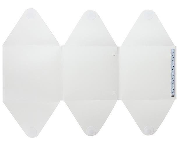 Cub foto pliabil, 20 LED-uri SMD, microUSB 5V, fundal alb negru, PVC [4]