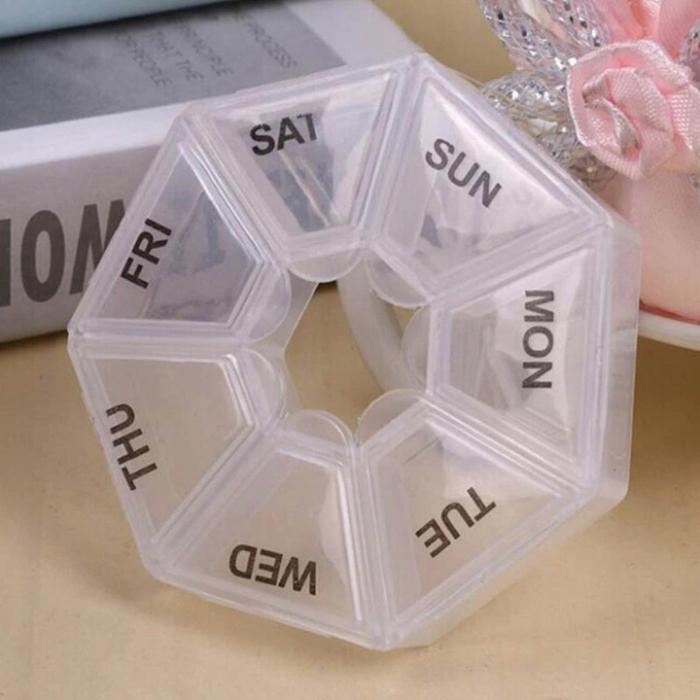 Cutie pilule/organizator medicamente 7 zile dispenser Plastic Albastru Alb /Roz/Transparent [1]