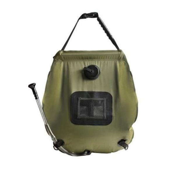 Dus solar portabil pentru camping, MT MALATEC, capacitate 20 litri, termometru, buzunar dublu [1]