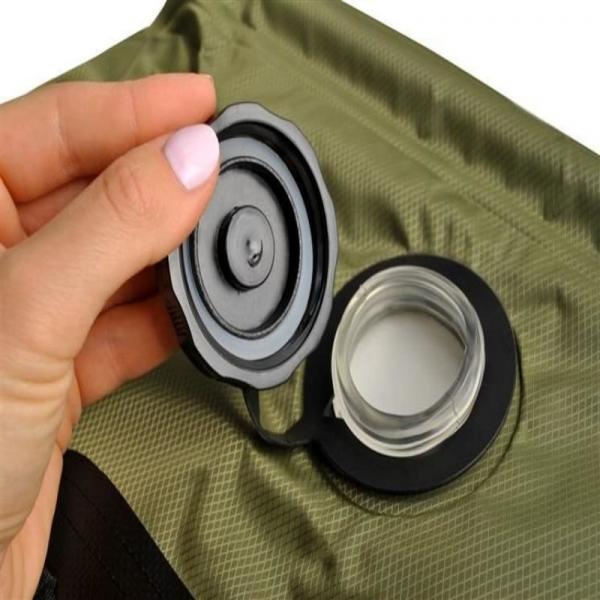 Dus solar portabil pentru camping, MT MALATEC, capacitate 20 litri, termometru, buzunar dublu [5]
