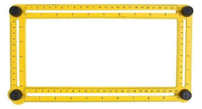 Echer Multifunctional 70x30 Cm, 4 Laturi Mobile [0]