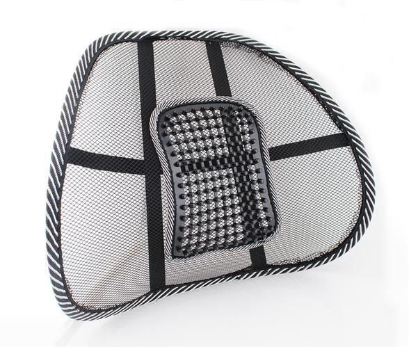 Suport lombar pentru scaun birou si auto cu bile masaj prindere cu benzi elastice 0