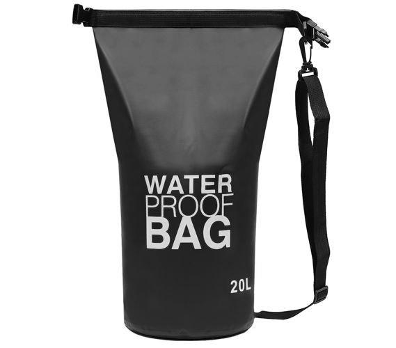 Geanta impermeabila de mare Dry-Bag 20 litri 55 x 37cm neagra [1]
