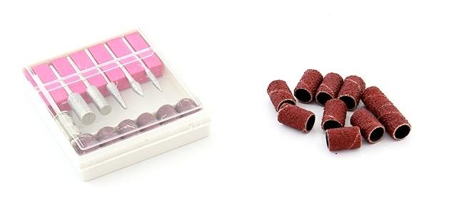 Freza Electrica pentru Unghii 6 Capete si 10 Inele Abrazive Viteza Reglabila pentru Manichiura [3]