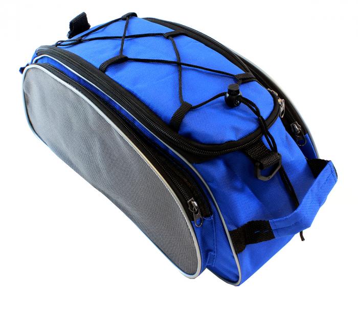Geanta 4 Compartimente Biciclete de Portbagaj albastra 0