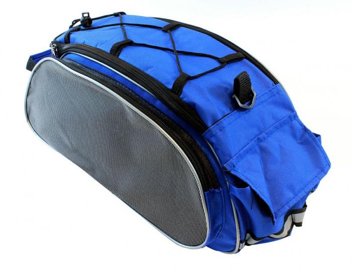 Geanta 4 Compartimente Biciclete de Portbagaj albastra 3