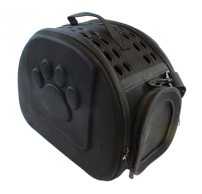 Geanta de transport animale pliabila pentru caini sau pisici de talie mica neagra [1]
