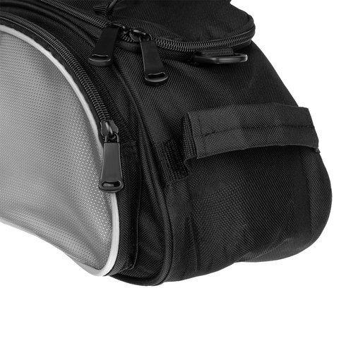 Geanta portbagaj biciclete gri capacitate 13 l, impermeabila, curea detasabila [4]