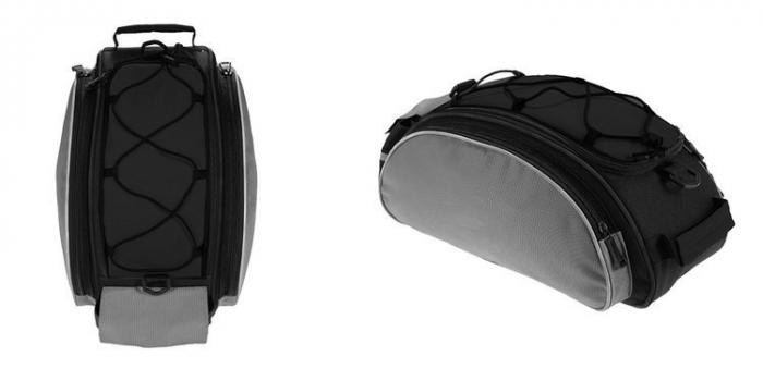 Geanta portbagaj biciclete gri capacitate 13 l, impermeabila, curea detasabila [19]