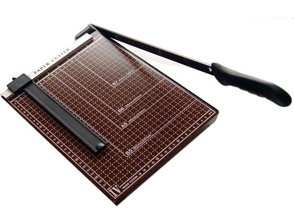 Ghilotina hartie taiere manuala  cu marcaj in formate hartie de birou din lemn 12 coli 80g/m2 0