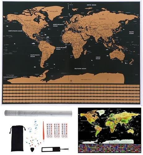 Harta lumii razuibila, 82x59 cm, text cartografie limba engleza, drapeluri [0]