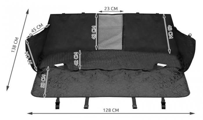 Husa auto protectie caini si pisici husa protectie bancheta spate pentru transport animale cu deschidere centuri si fermoar [7]