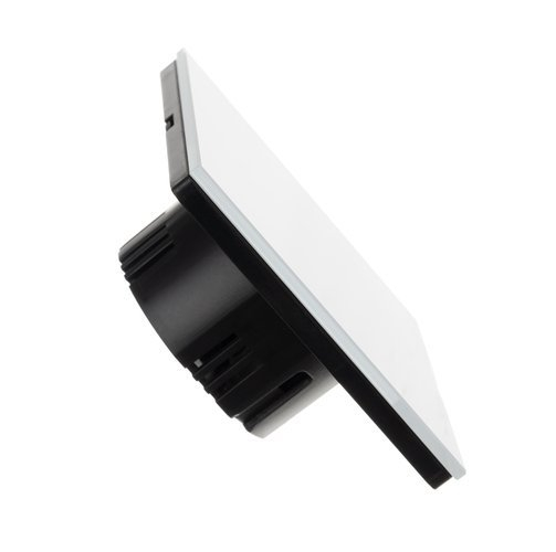 Intrerupator Single touch,  Sticla, 8.6 x 8.6 x 3.3 cm, Alb [2]