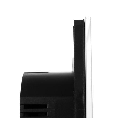 Intrerupator Single touch,  Sticla, 8.6 x 8.6 x 3.3 cm, Alb [3]