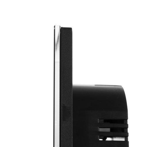 Intrerupator Single touch, Sticla, 8.6 x 8.6 x 3.3 cm, Negru [3]